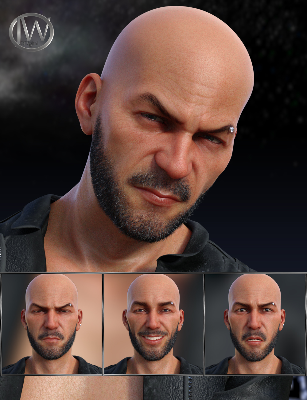 My Rules - Expressions for Genesis 8 Male and Christian 8 by: JWolf, 3D Models by Daz 3D