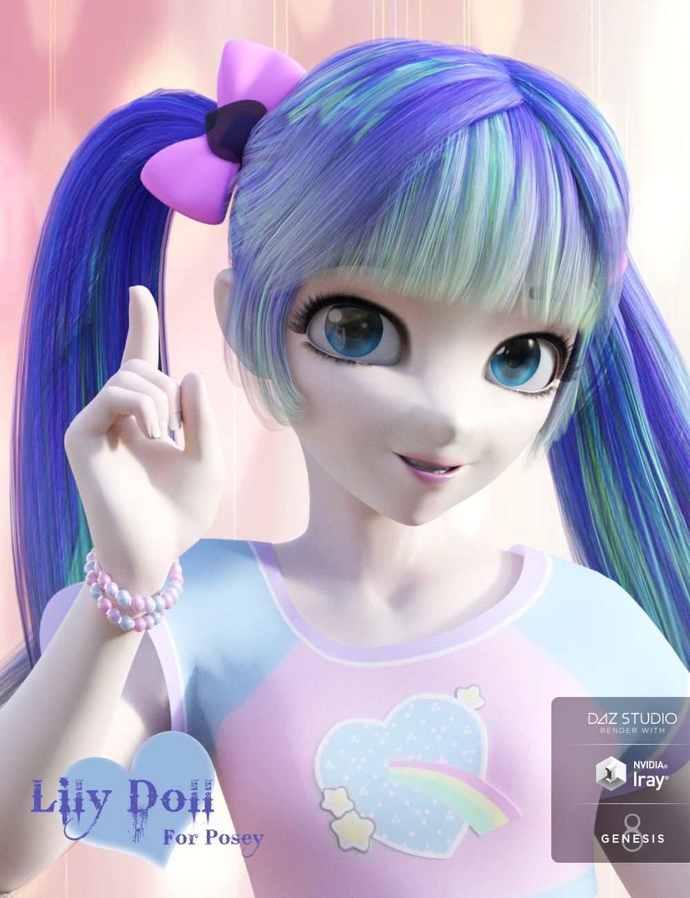 Lily Doll for Posey and Genesis 8 Female(s)