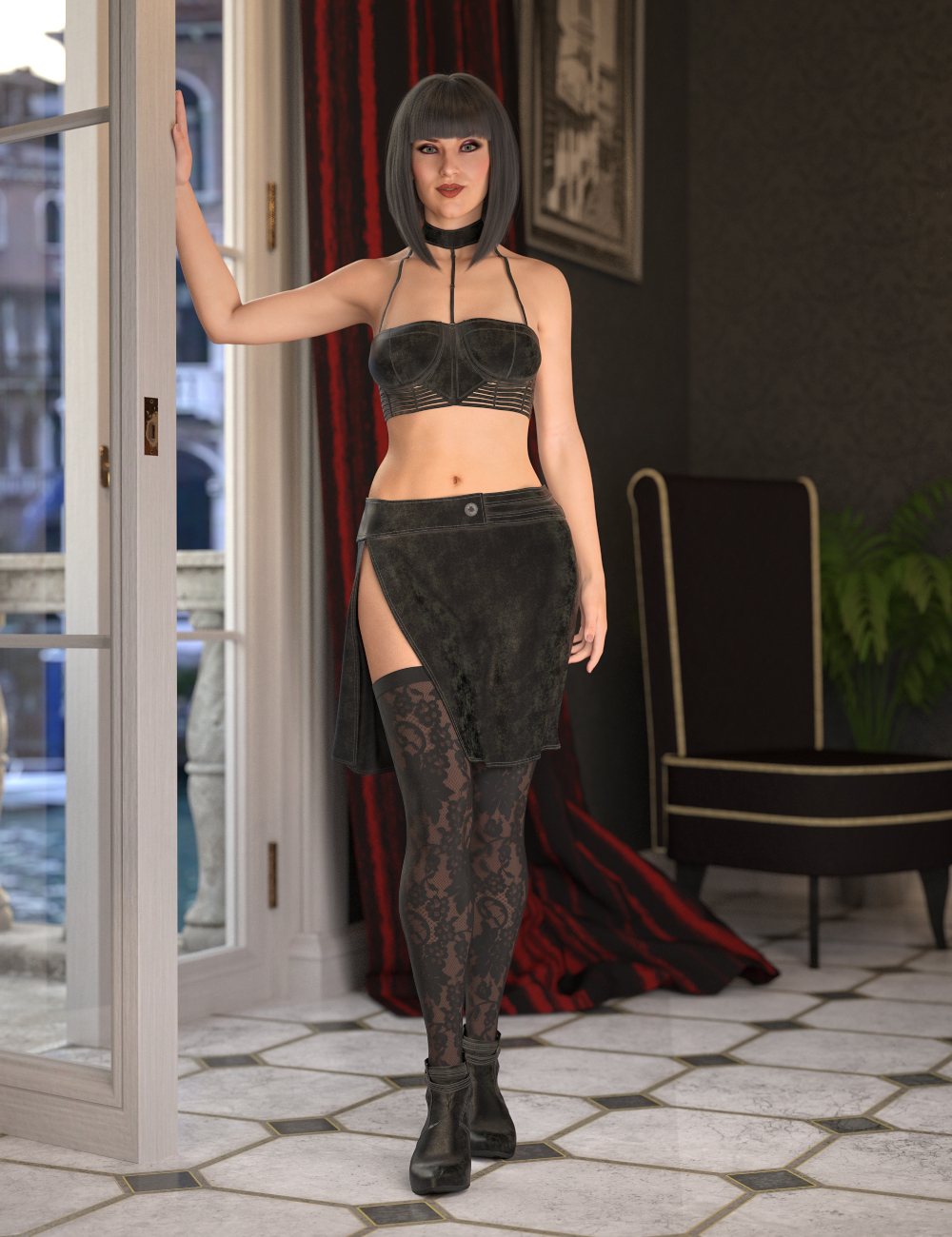dForce Date Night for Genesis 8 Female by: Barbara BrundonMoonscape GraphicsSadeUmblefugly, 3D Models by Daz 3D