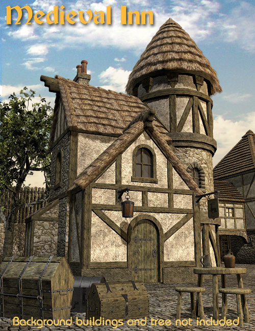 Medieval Inn by: Faveral, 3D Models by Daz 3D