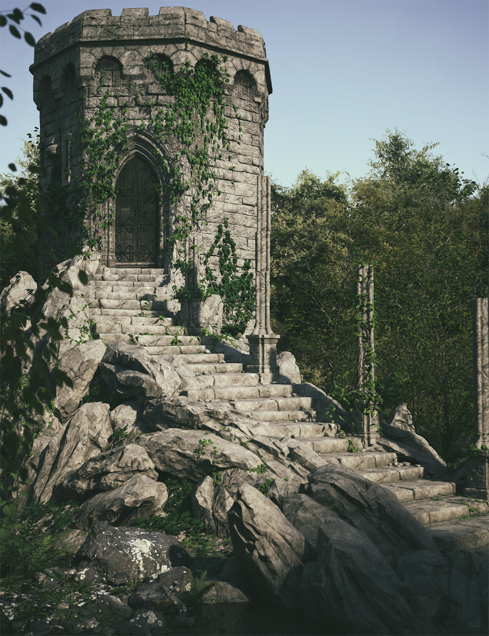 The Steps To Erewhon by: Stonemason, 3D Models by Daz 3D