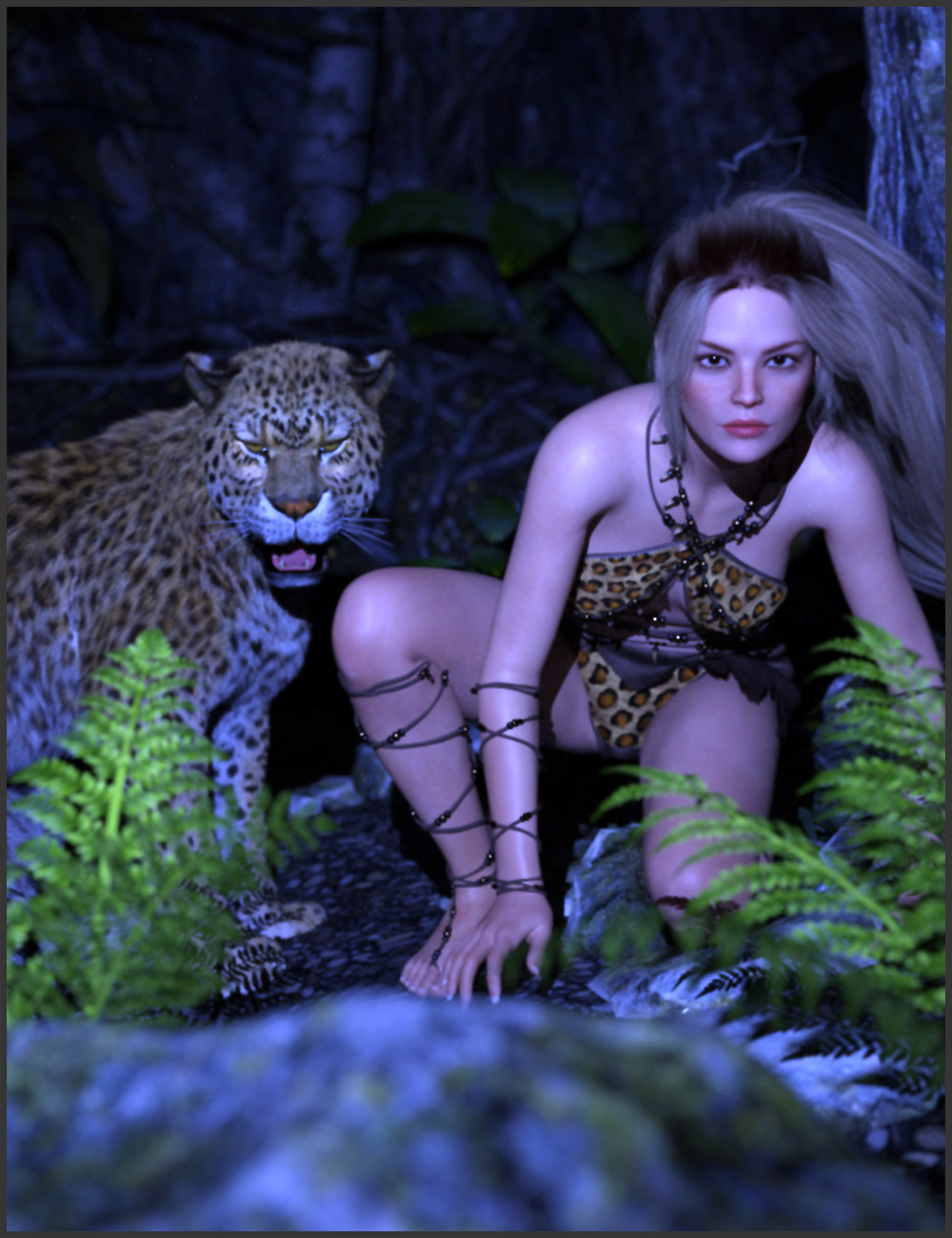 Primal Thunder - dForce Primal Scream Outfit Textures by: ARTCollaborations, 3D Models by Daz 3D