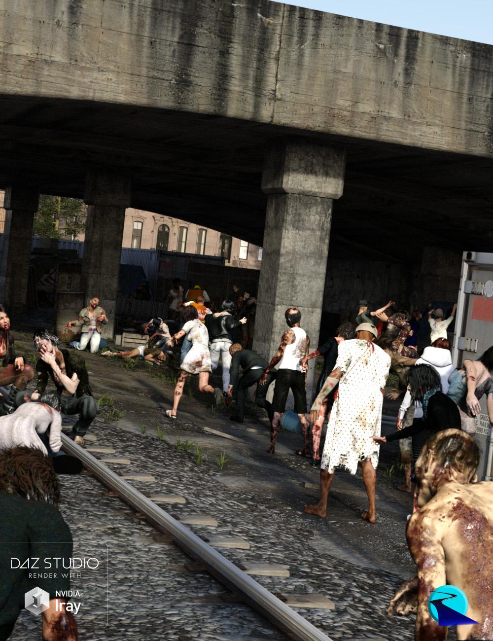 Now-Crowd Billboards - Zombie Apocalypse by: RiverSoft Art, 3D Models by Daz 3D