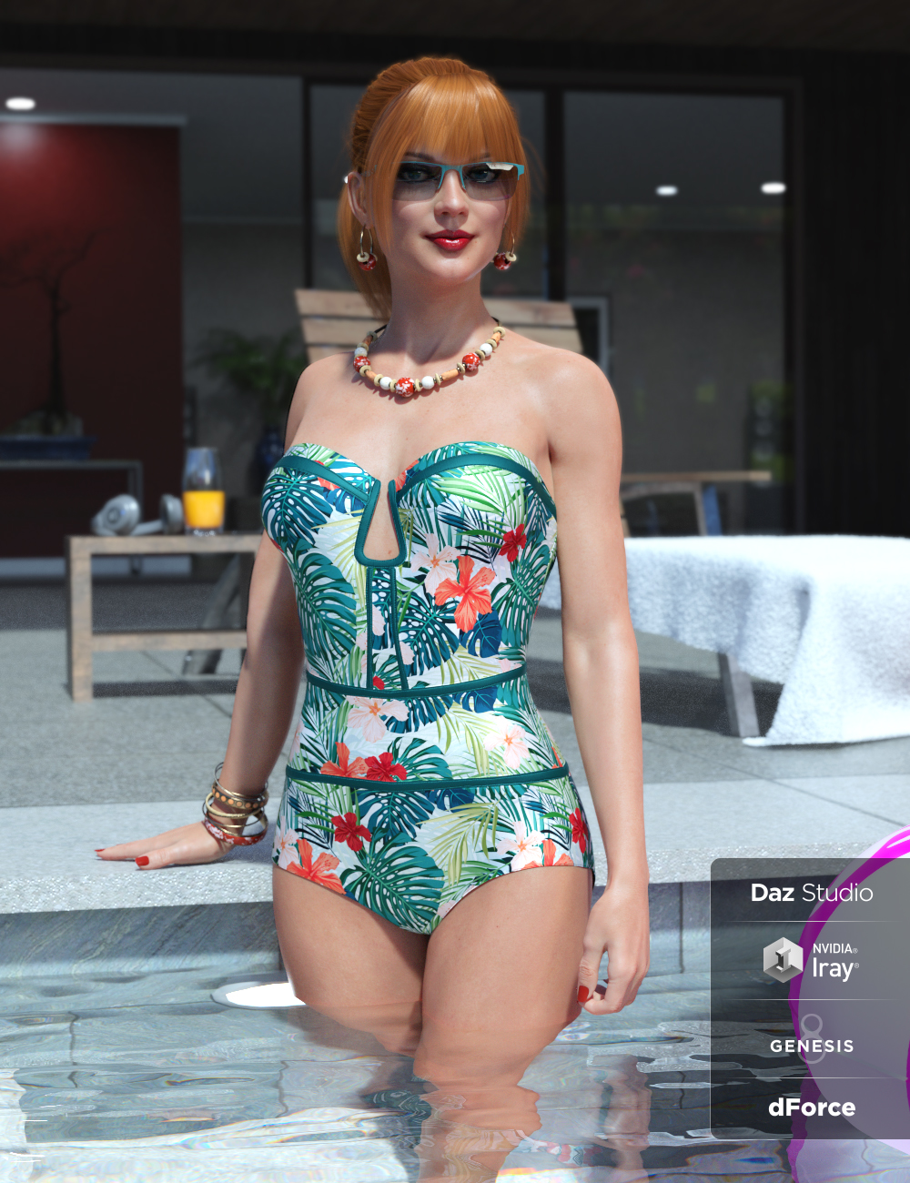 Sophisticated Swimsuit for Genesis 8 Female(s) by: Moonscape GraphicsNikisatezSade, 3D Models by Daz 3D