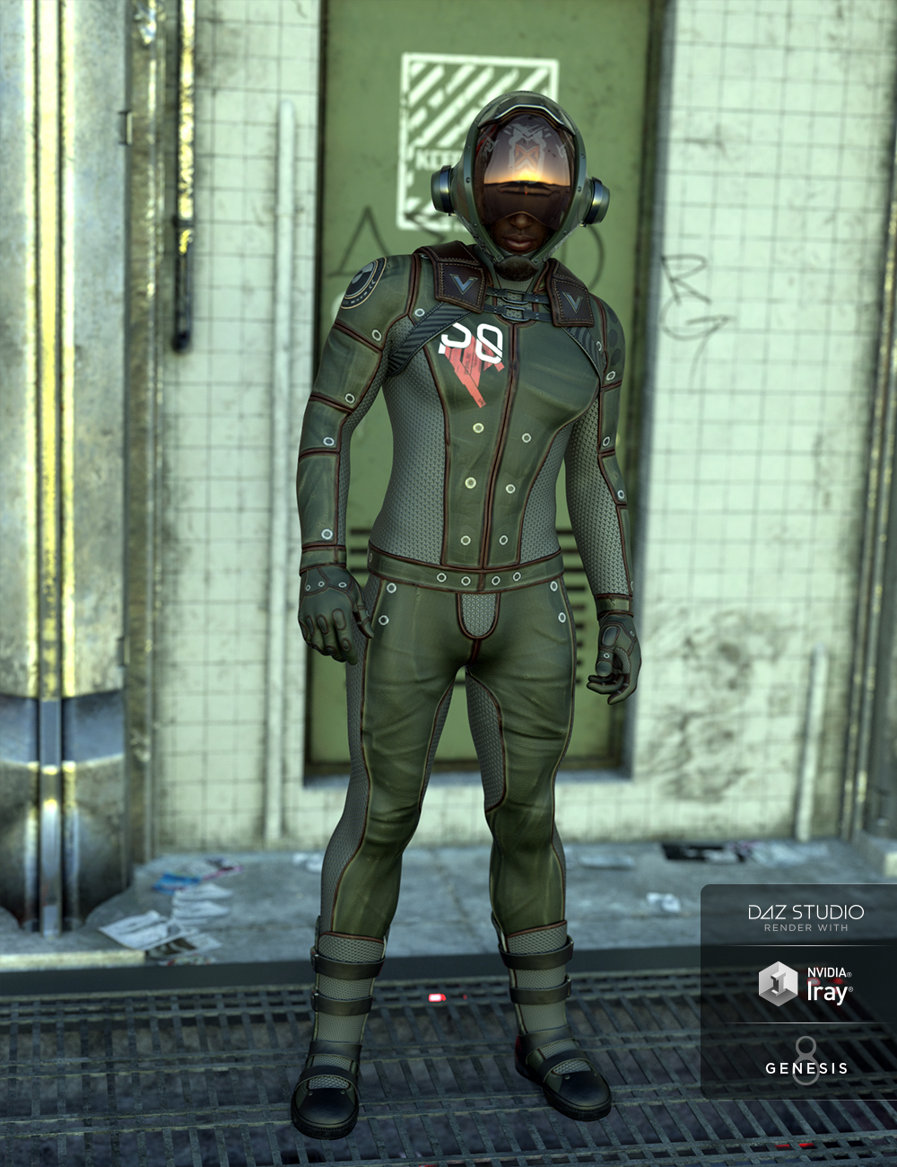 Sci-Fi Task Force Outfit for Genesis 8 Male(s) by: Cichy3D, 3D Models by Daz 3D