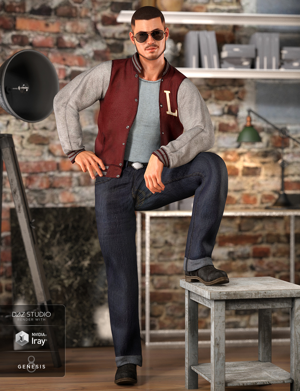dForce Outsider Outfit for Genesis 8 Male(s) by: LuthbellinaNikisatez, 3D Models by Daz 3D