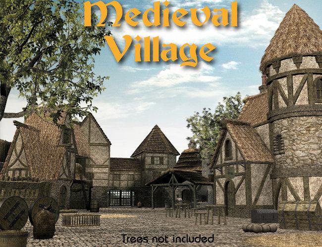 Medieval Village by: Faveral, 3D Models by Daz 3D