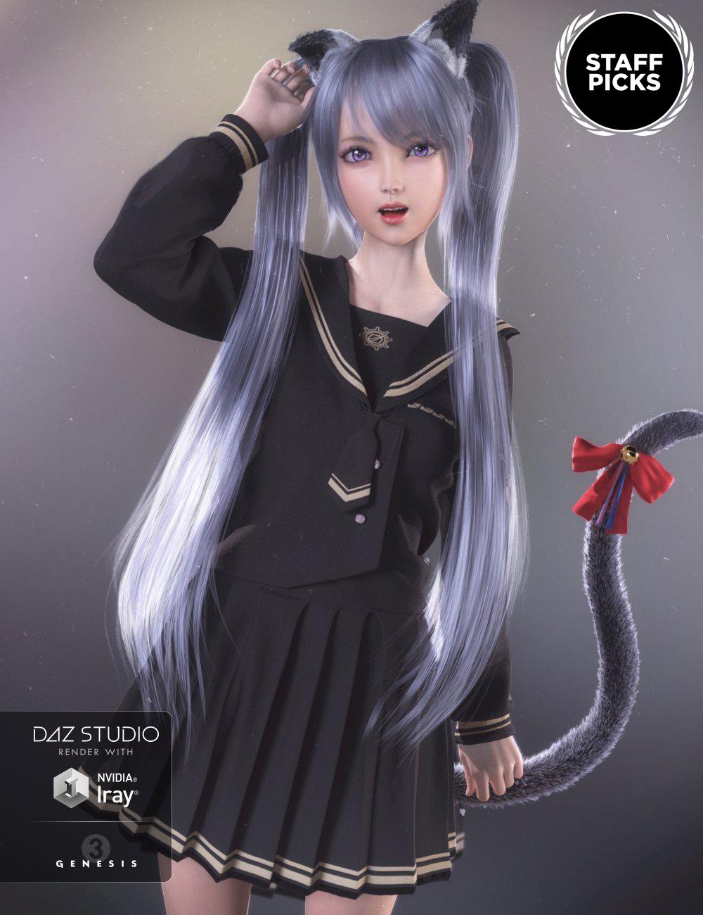 Kanade 8 by: , 3D Models by Daz 3D