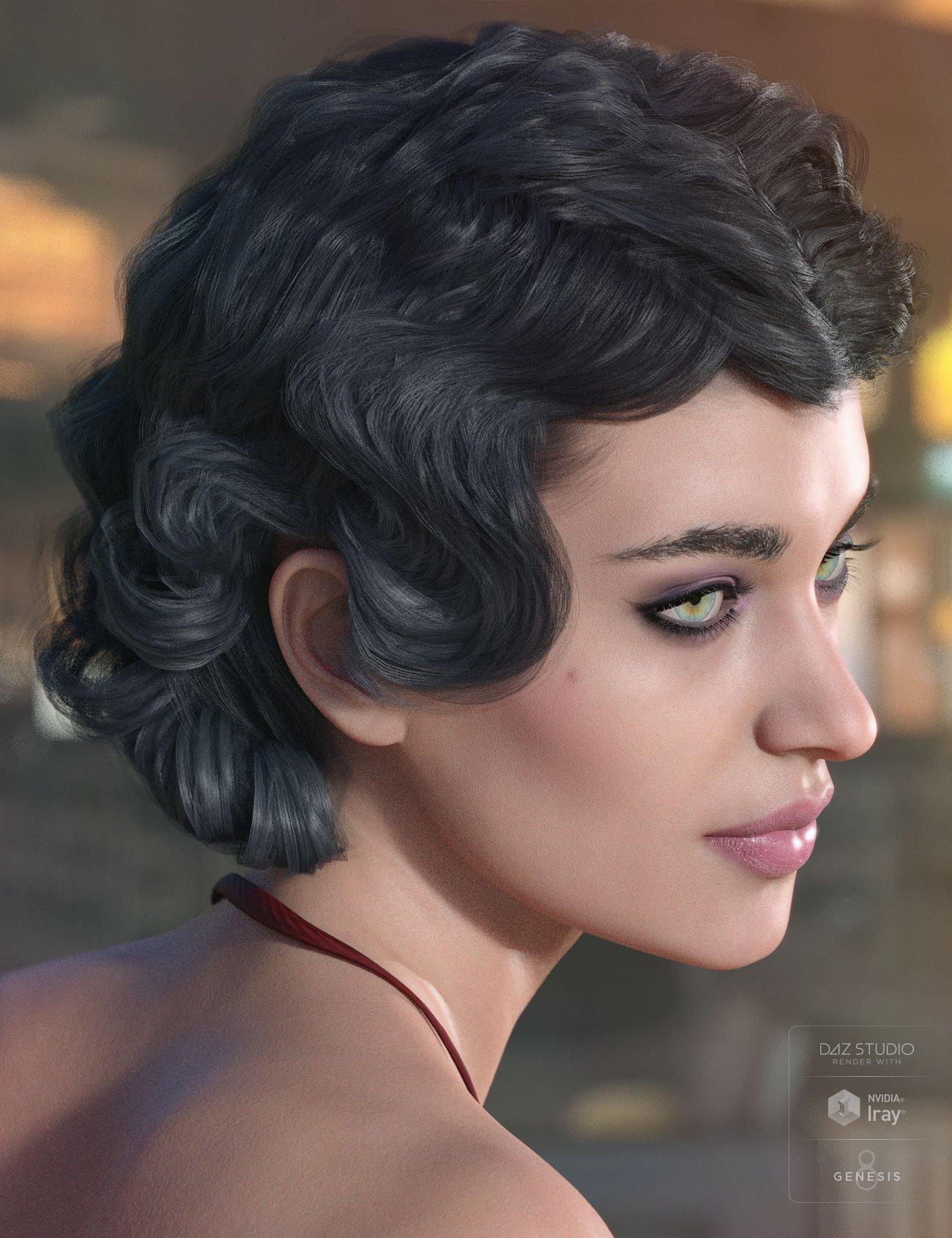 Pandora Hair for Genesis 3 & 8 Female(s) by: AprilYSH, 3D Models by Daz 3D