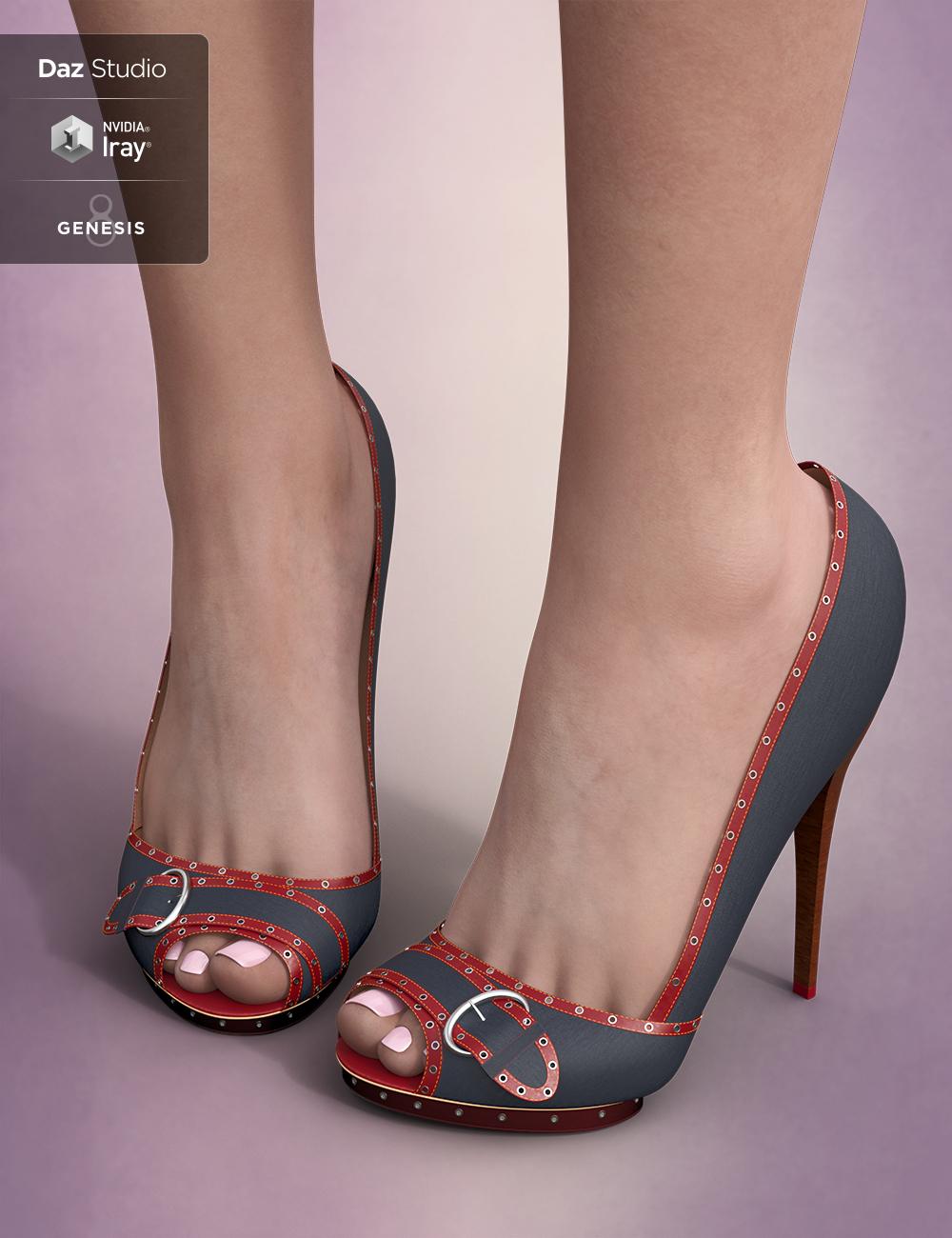 Seductive High Heels for Genesis 8 Female(s) by: PrefoX, 3D Models by Daz 3D