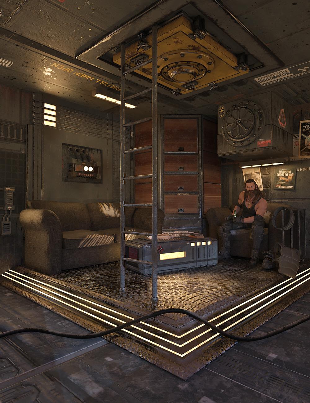 SciFi Living Room by: Blackbeard Media, 3D Models by Daz 3D