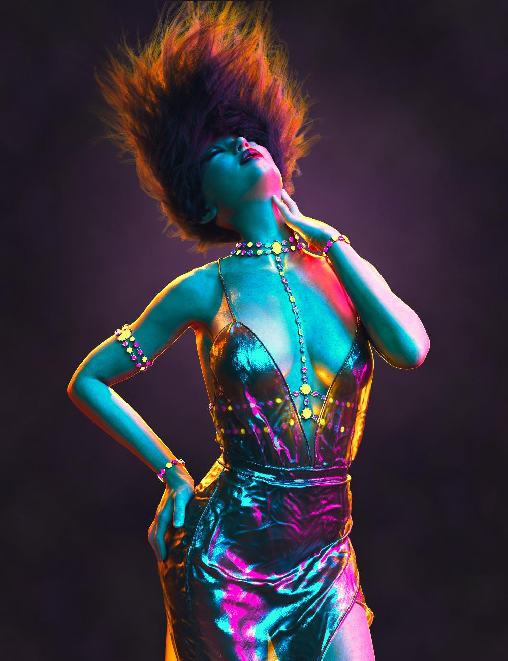 PTF Neon Splash Lighting Suite by: PixelTizzyFit, 3D Models by Daz 3D