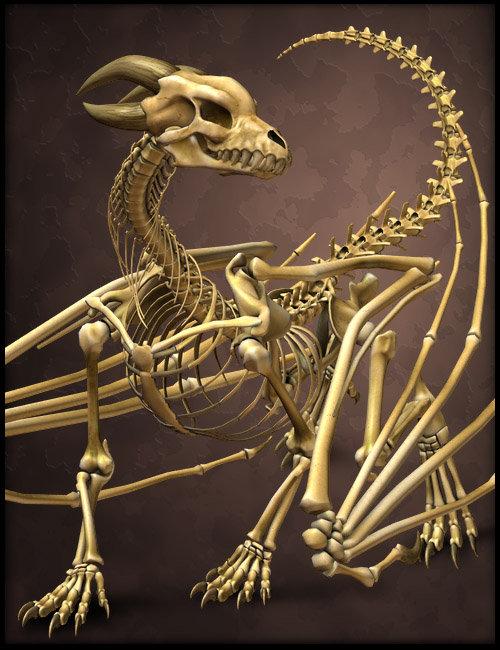 The Bone Dragon by: SequestrianBradyDalton, 3D Models by Daz 3D