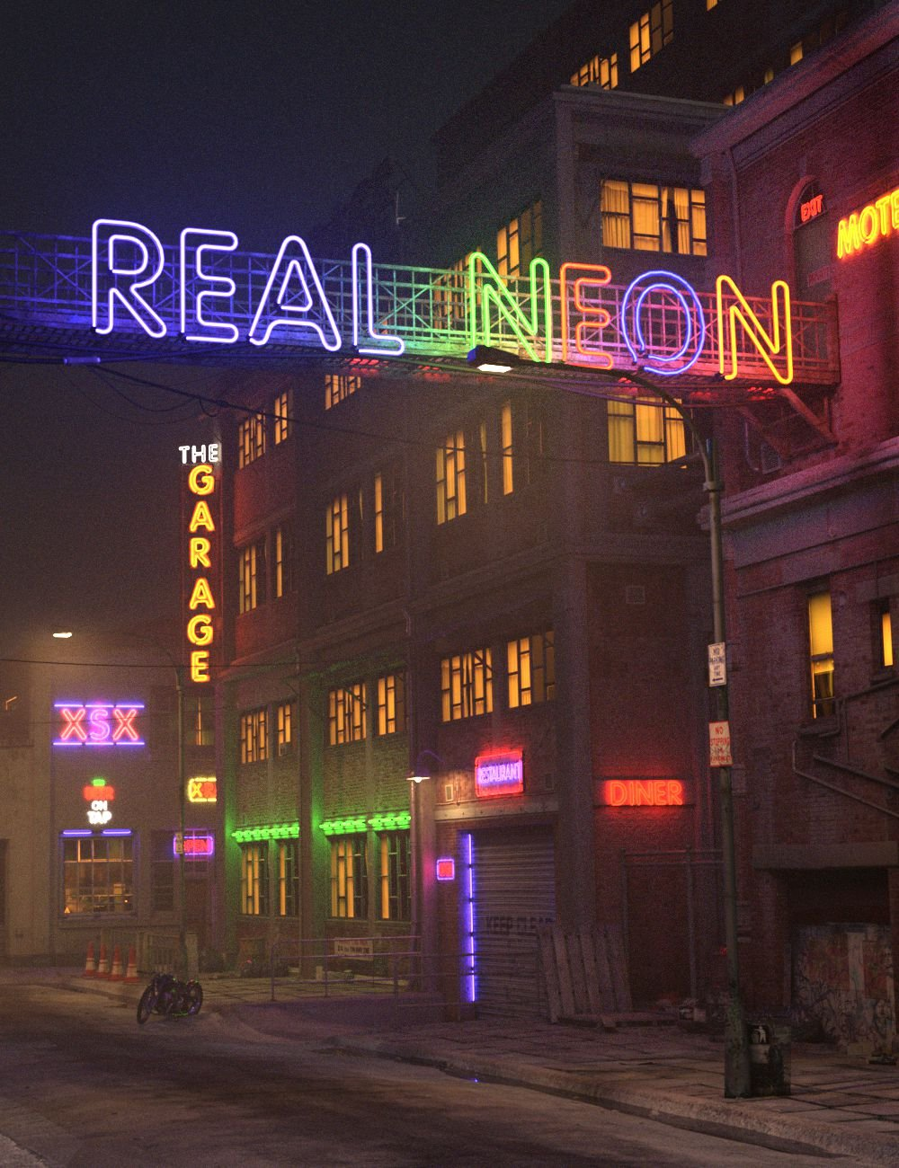 Real Neon Letters by: DzFire, 3D Models by Daz 3D