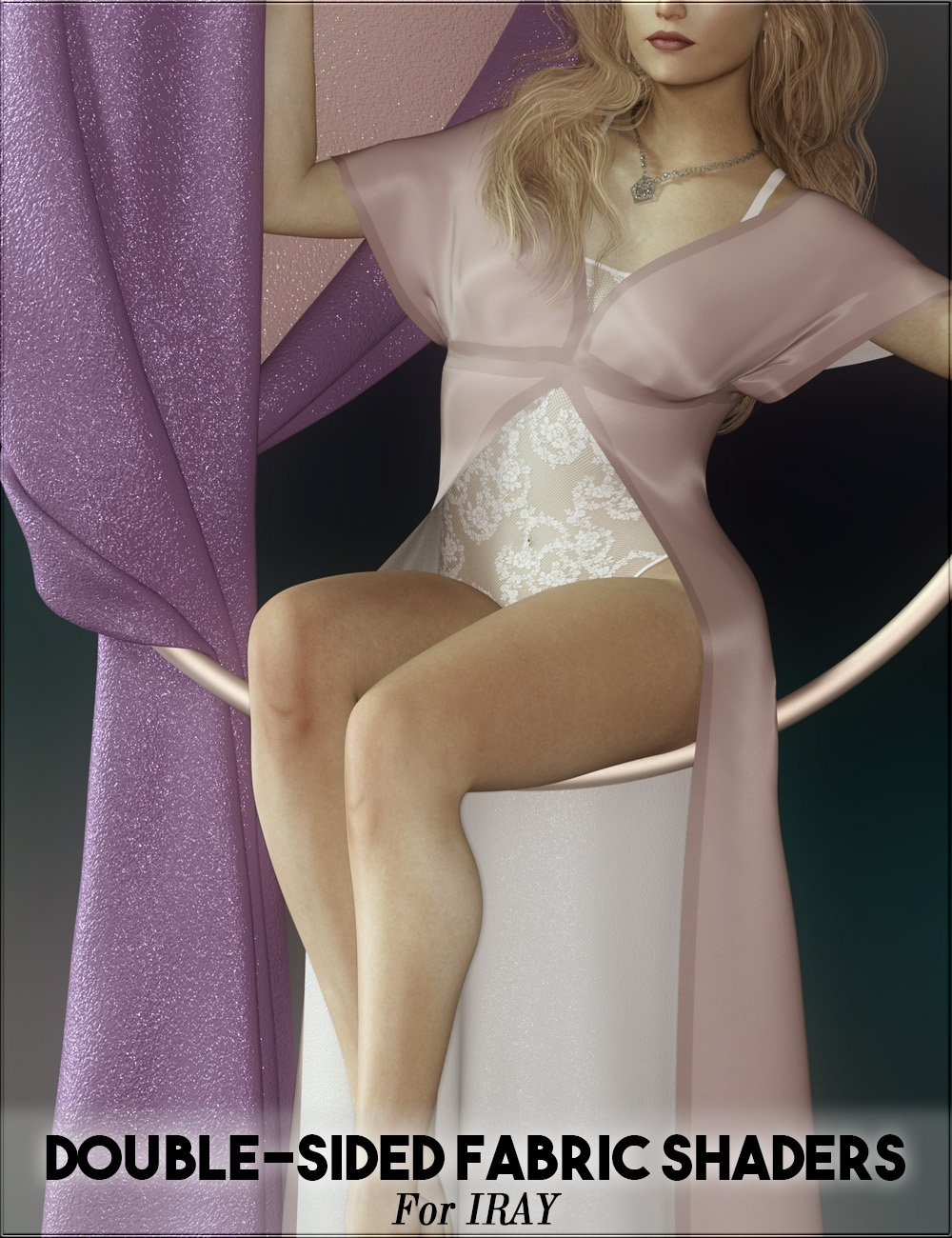 Double-Sided Iray Fabric Shaders by: vyktohria, 3D Models by Daz 3D