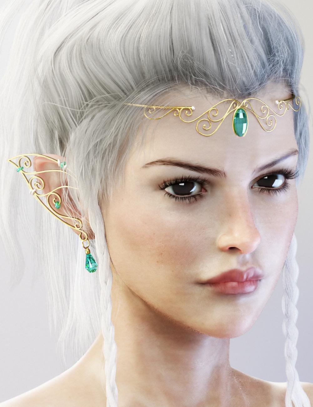 Elf Jewelry by: Neikdian, 3D Models by Daz 3D