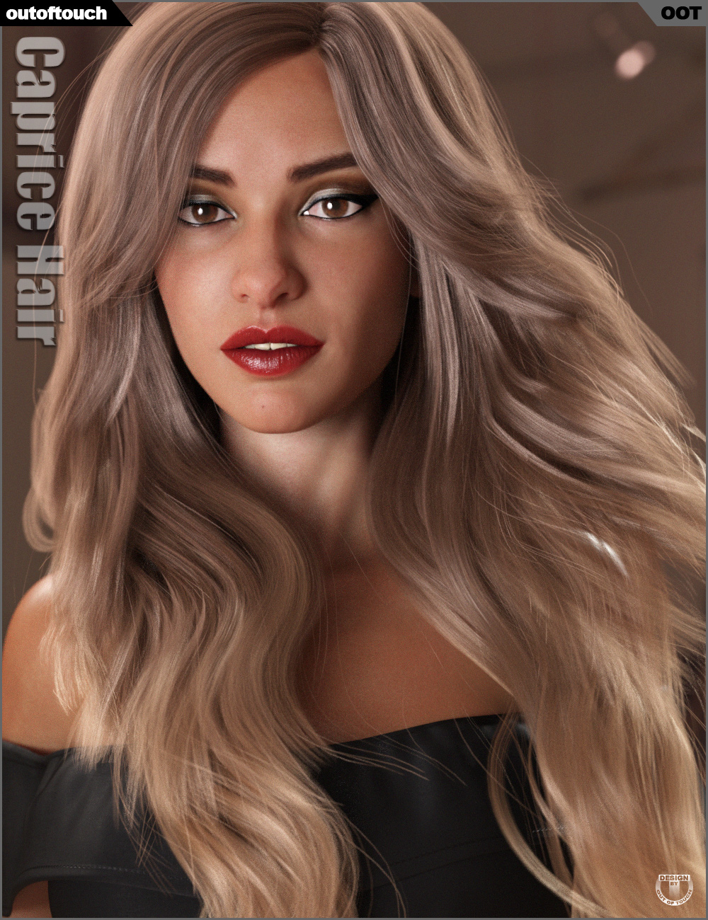 Caprice Hair for Genesis 3 and 8 Female(s) by: outoftouch, 3D Models by Daz 3D