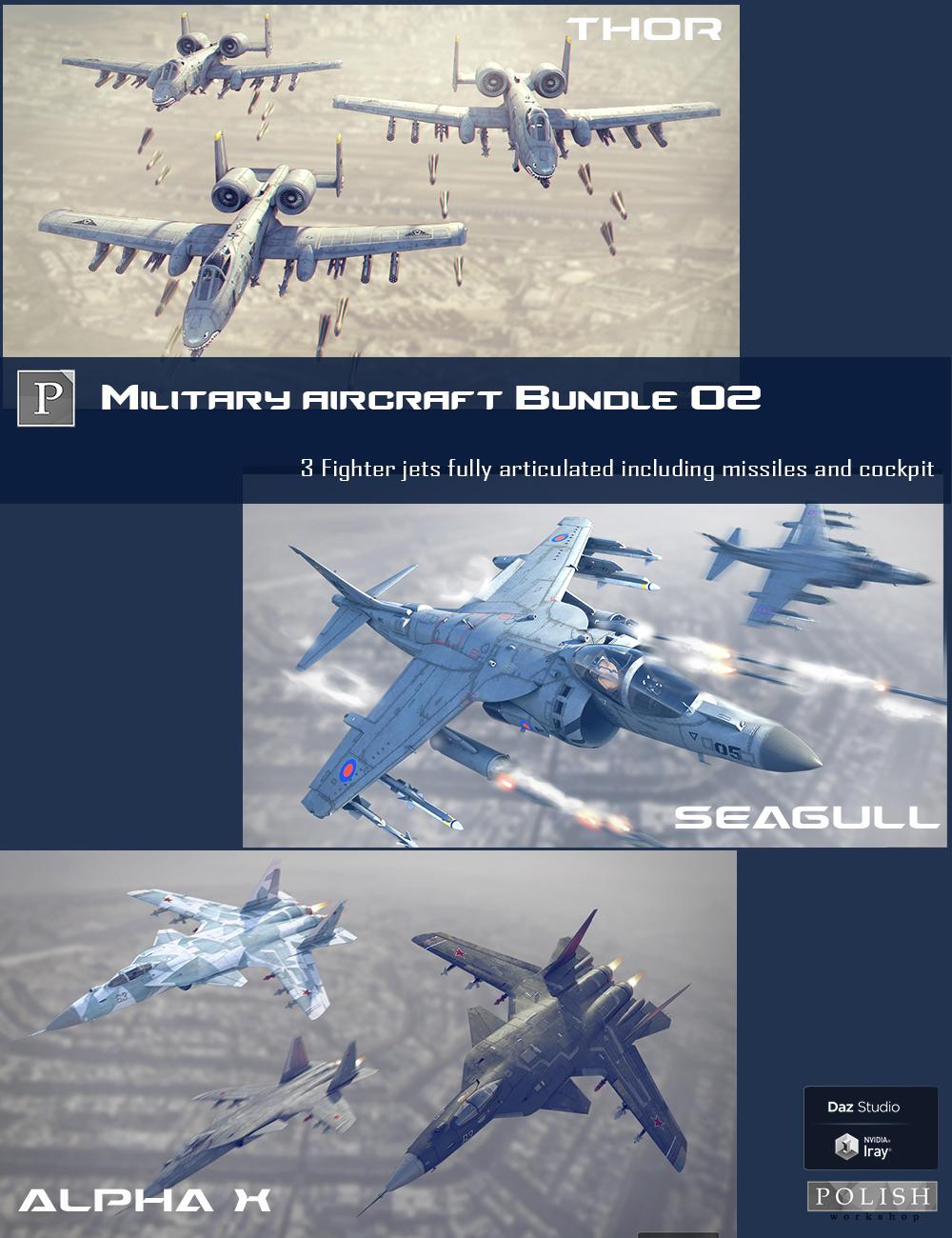 Military Aircraft Bundle 02 by: Polish, 3D Models by Daz 3D