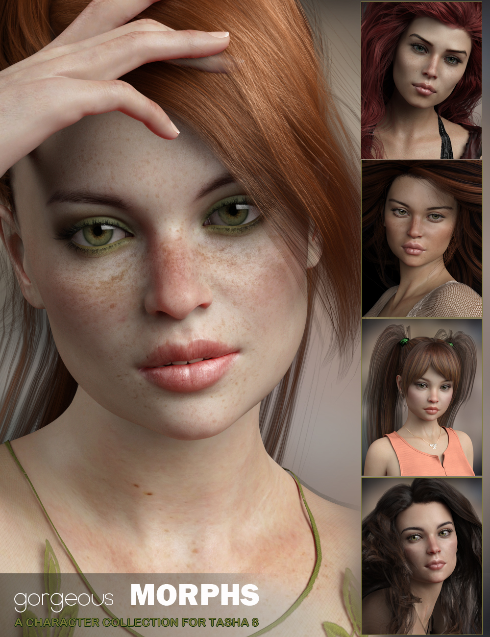 Gorgeous Morphs for Tasha 8 by: P3Design, 3D Models by Daz 3D