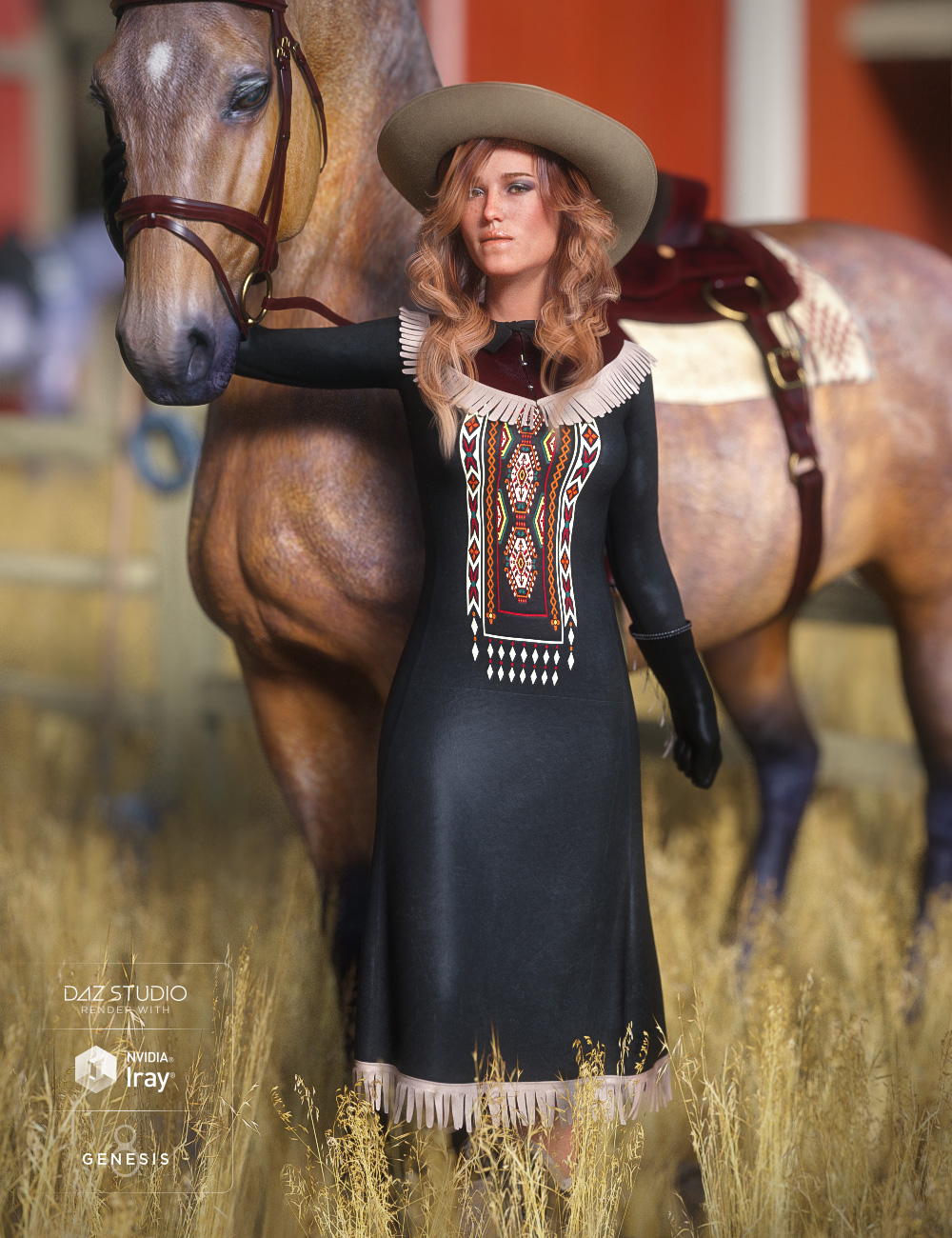 dForce Rose Hitches for Genesis 8 Female(s) by: Barbara BrundonUmblefugly, 3D Models by Daz 3D