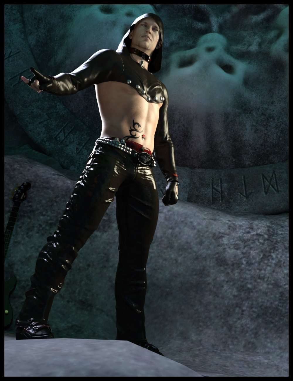 dForce GothicX Rock for Genesis 8 Male(s) by: Nathy, 3D Models by Daz 3D