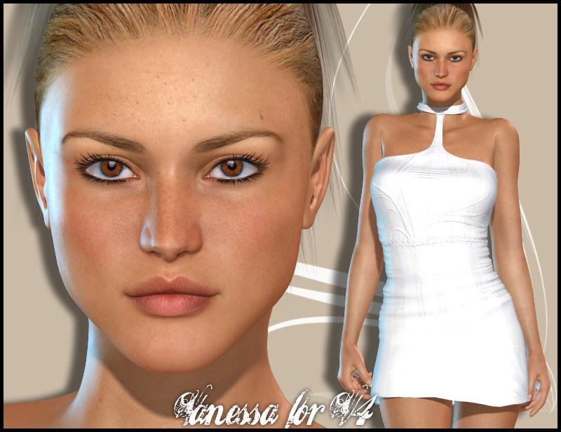Vanessa for V4 by: maelwenn, 3D Models by Daz 3D
