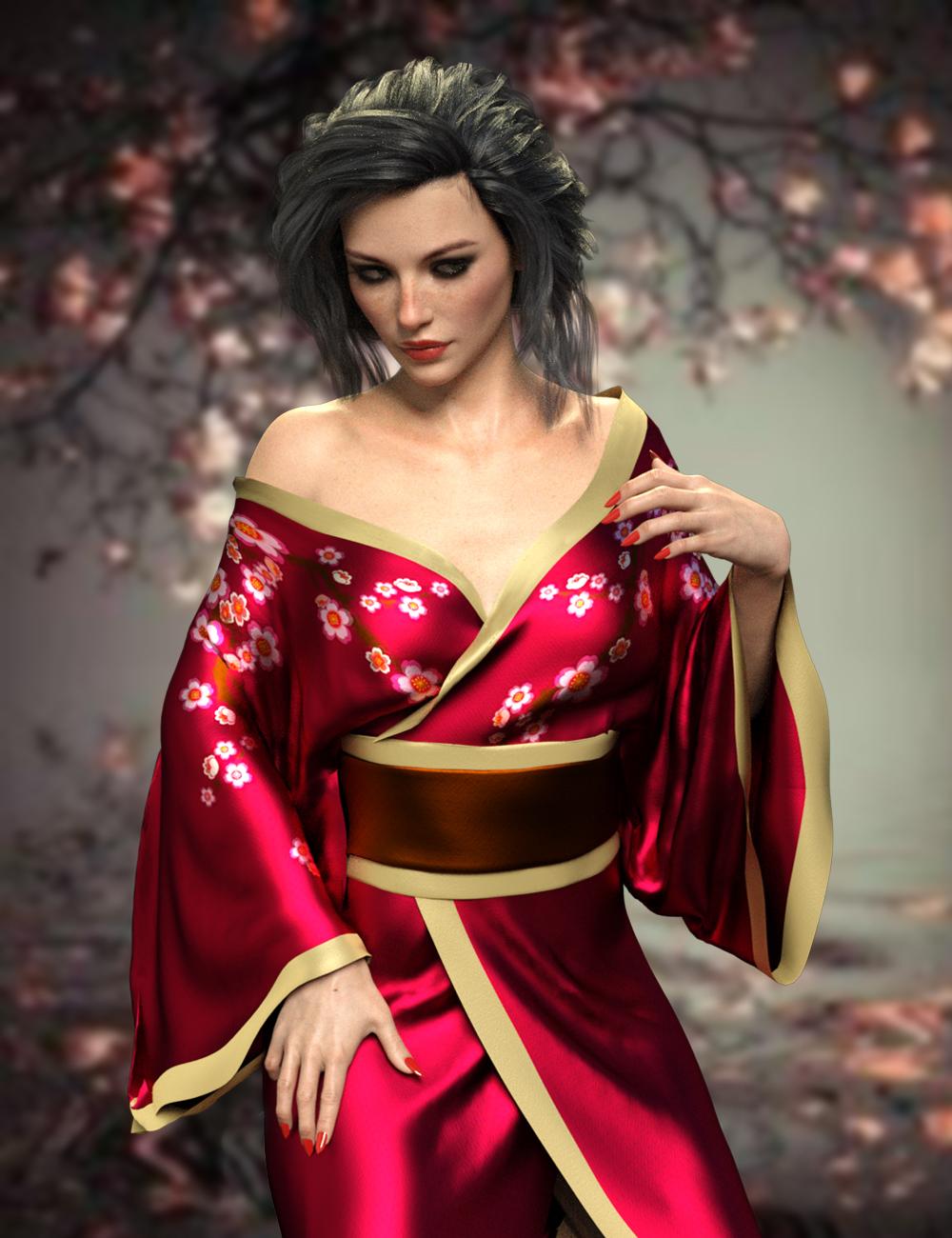 dForce X-Fashion Sexy Kimono for Genesis 8 Female(s) by: xtrart-3d, 3D Models by Daz 3D