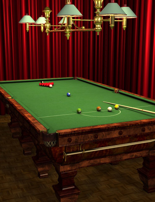 The Billiard Table by: Ness Period Reproductions, 3D Models by Daz 3D