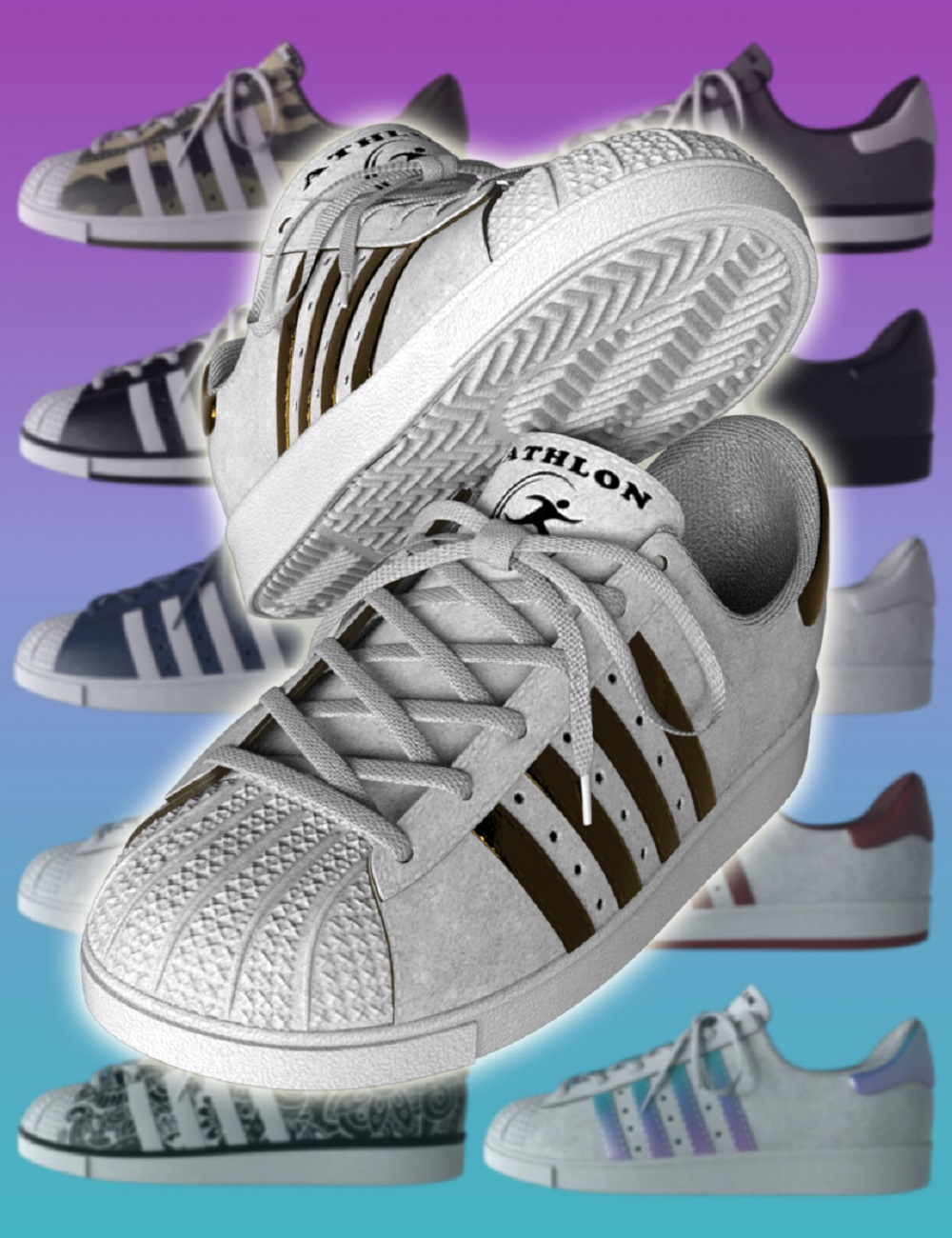 Casual Sports Sneakers for Genesis 8 by: Dogz, 3D Models by Daz 3D