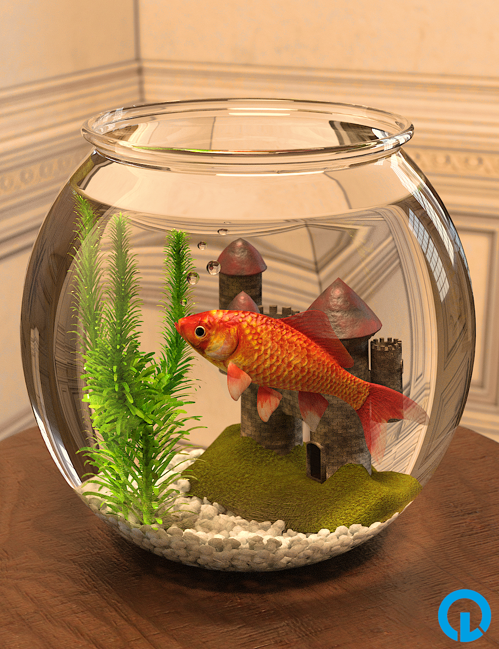 Goldfish and Props by: Sylvan, 3D Models by Daz 3D