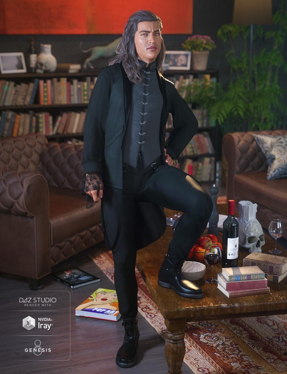 dForce Jasper Black for Genesis 8 Male(s) by: Ravenhair, 3D Models by Daz 3D