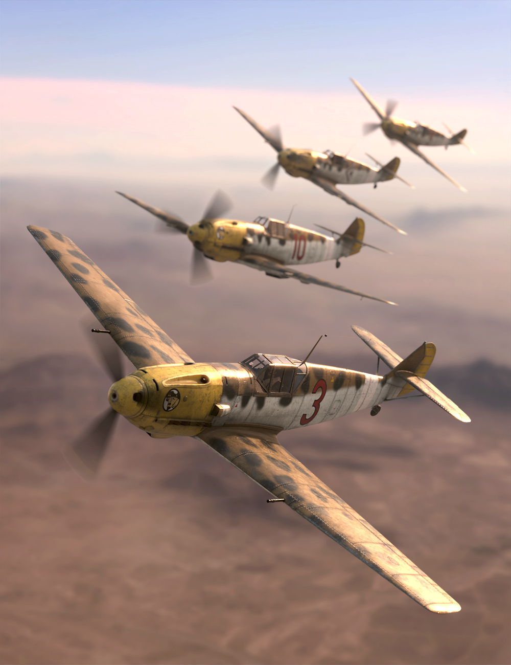 BF109 Fighter by: Predatron, 3D Models by Daz 3D