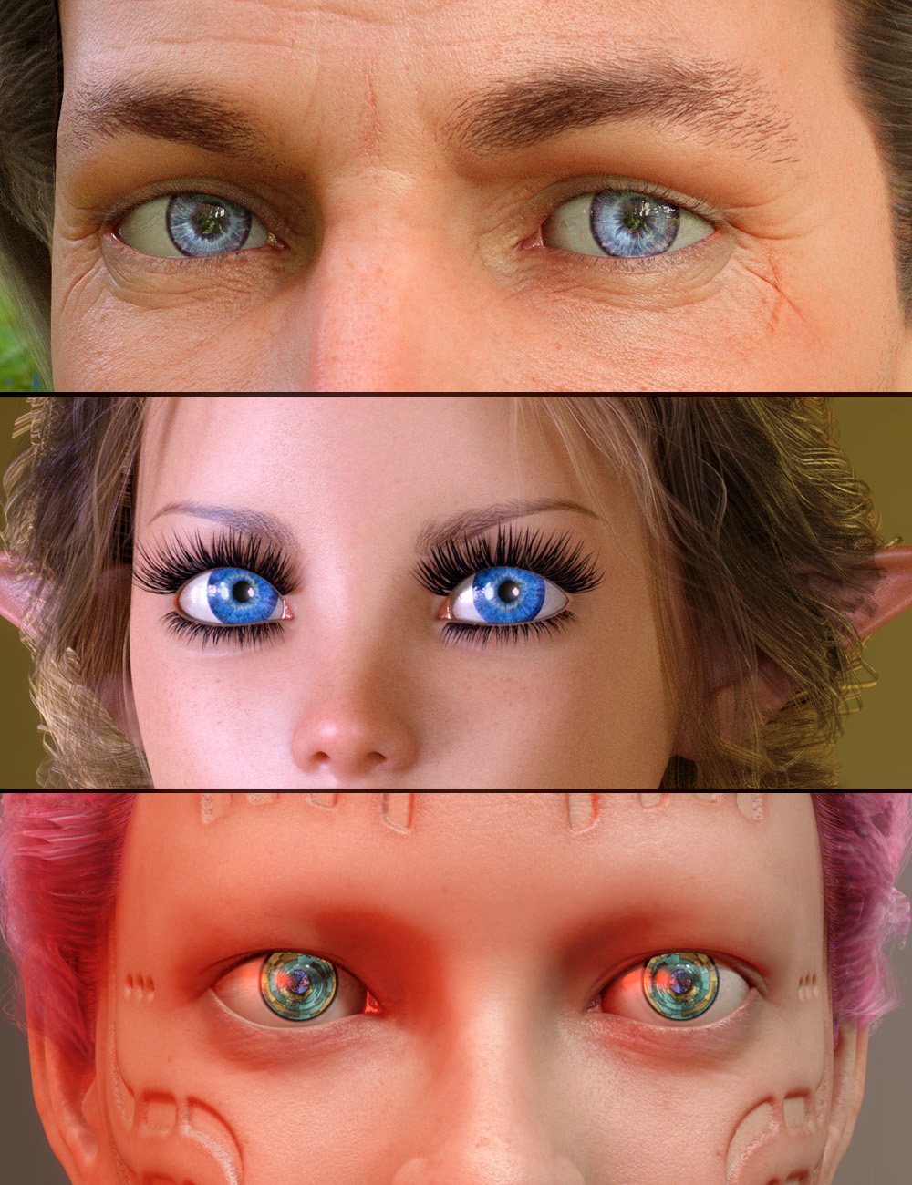 Ultimate Eyes for Genesis 8 by: PhilW, 3D Models by Daz 3D