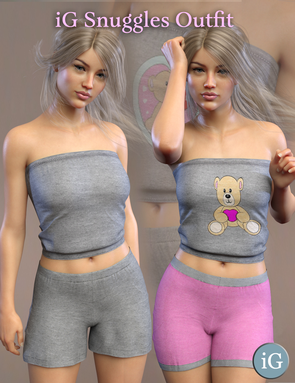 iG Snuggles Outfit For Genesis 8 Female(s) by: i3D_LotusValery3D, 3D Models by Daz 3D