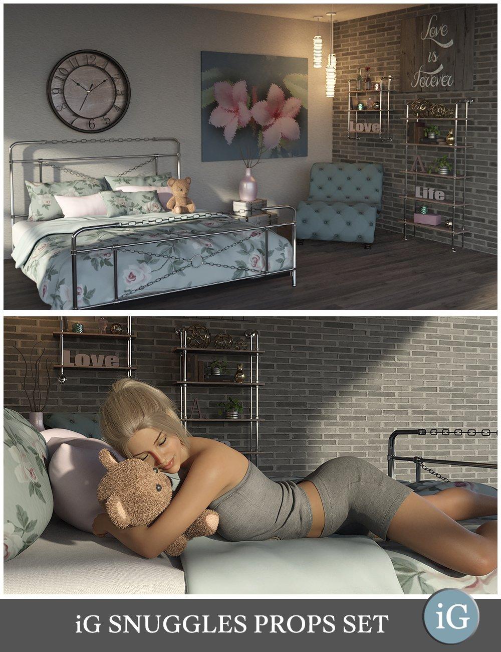 iG Snuggles Prop Set by: i3D_LotusValery3D, 3D Models by Daz 3D