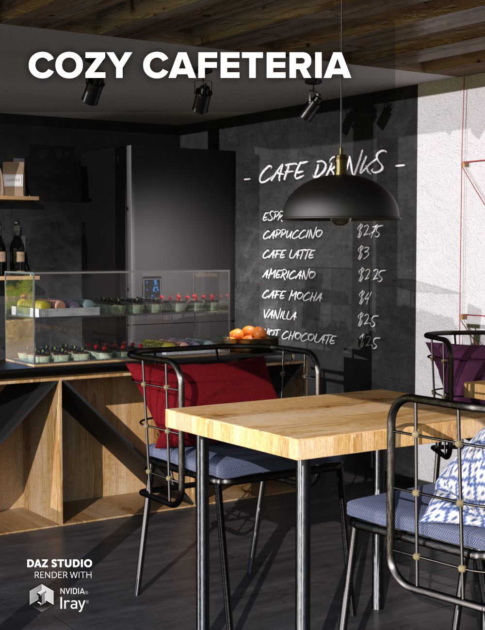 Cozy Cafeteria by: Dimidrol, 3D Models by Daz 3D