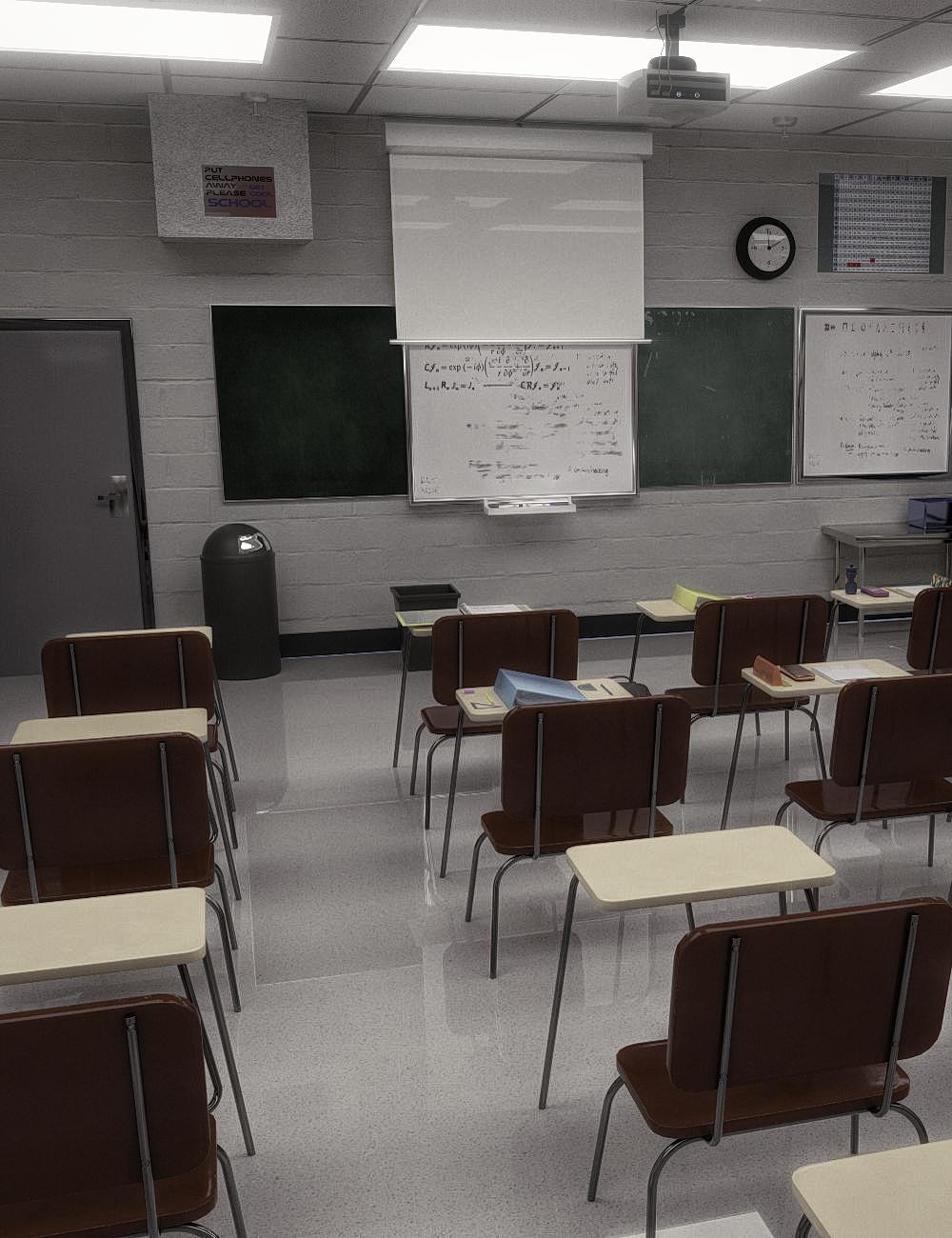 FG Classroom by: Fugazi1968, 3D Models by Daz 3D