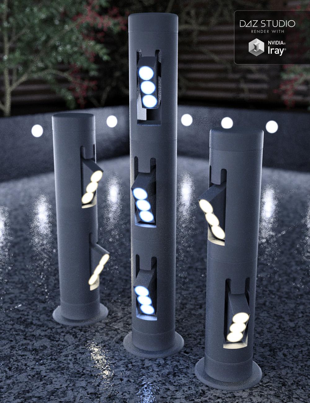 Bollard Garden Lighting by: David BrinnenForbiddenWhispers, 3D Models by Daz 3D