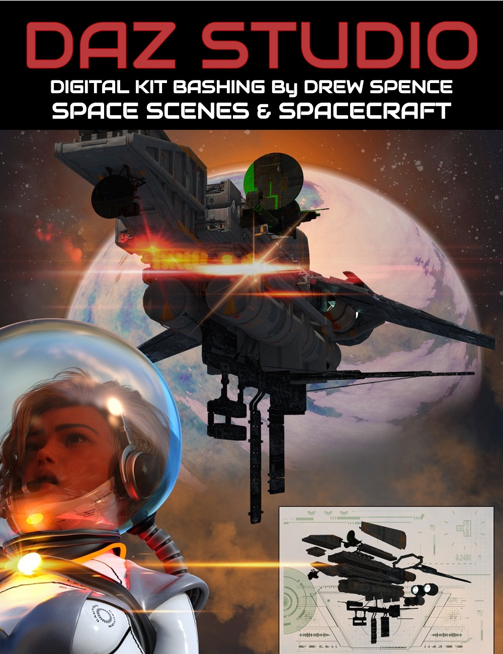 Digital Kit Bashing : Space and Spaceships by: Digital Art Live, 3D Models by Daz 3D
