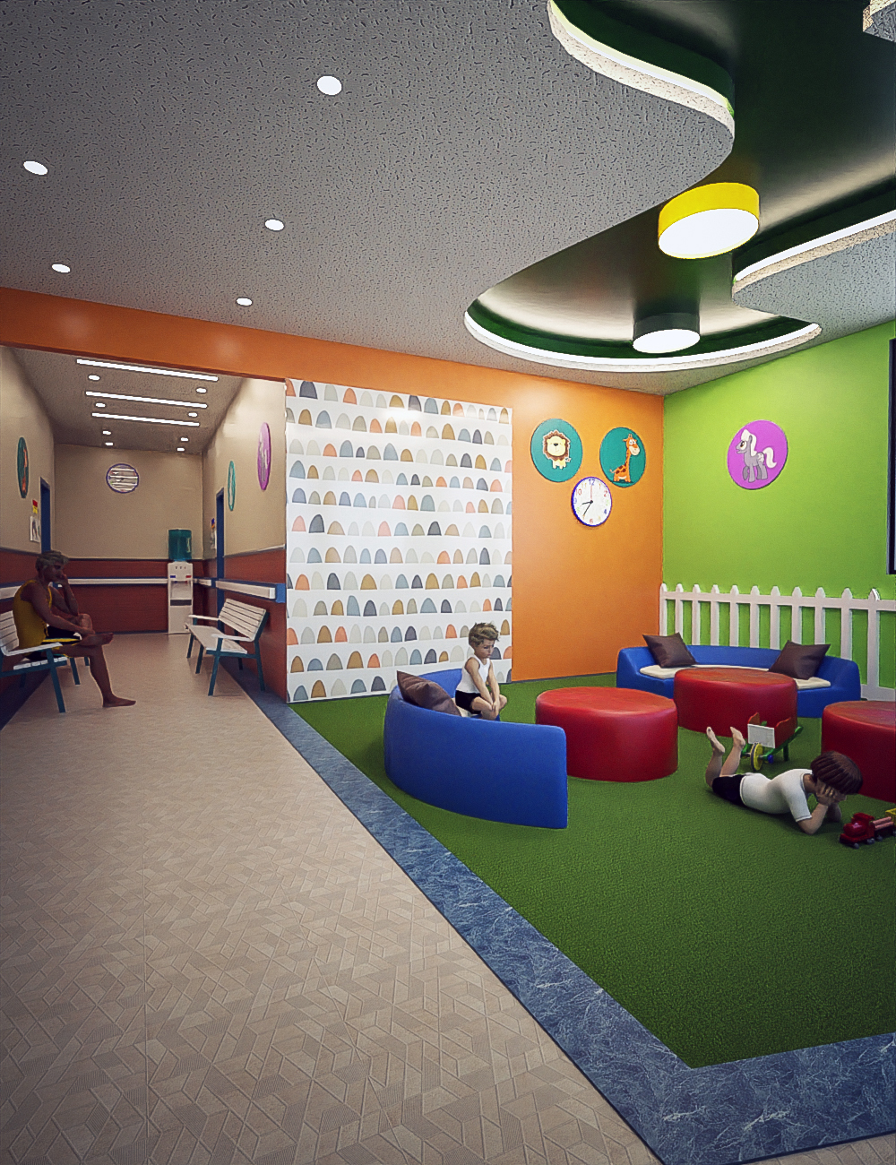 Pediatric Clinic Waiting Area by: Tesla3dCorp, 3D Models by Daz 3D