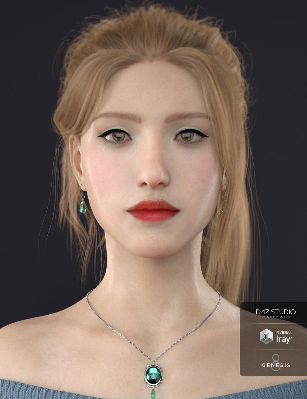 Olivia for Genesis 8 Female by: Cherubit, 3D Models by Daz 3D
