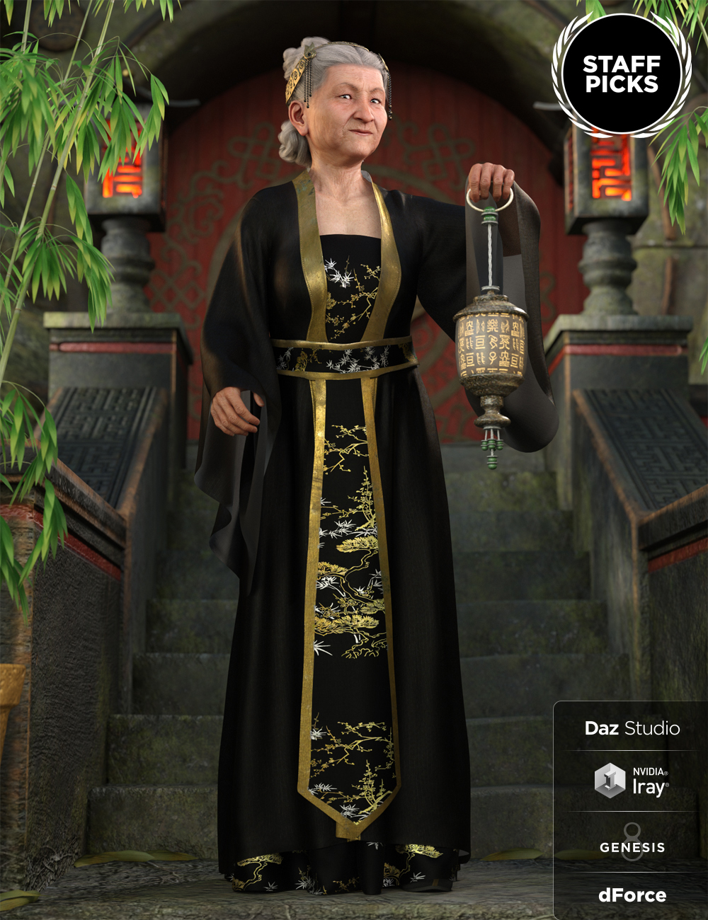 dForce Palace Robes Outfit for Genesis 8 Female(s) by: Moonscape GraphicsNikisatezSade, 3D Models by Daz 3D
