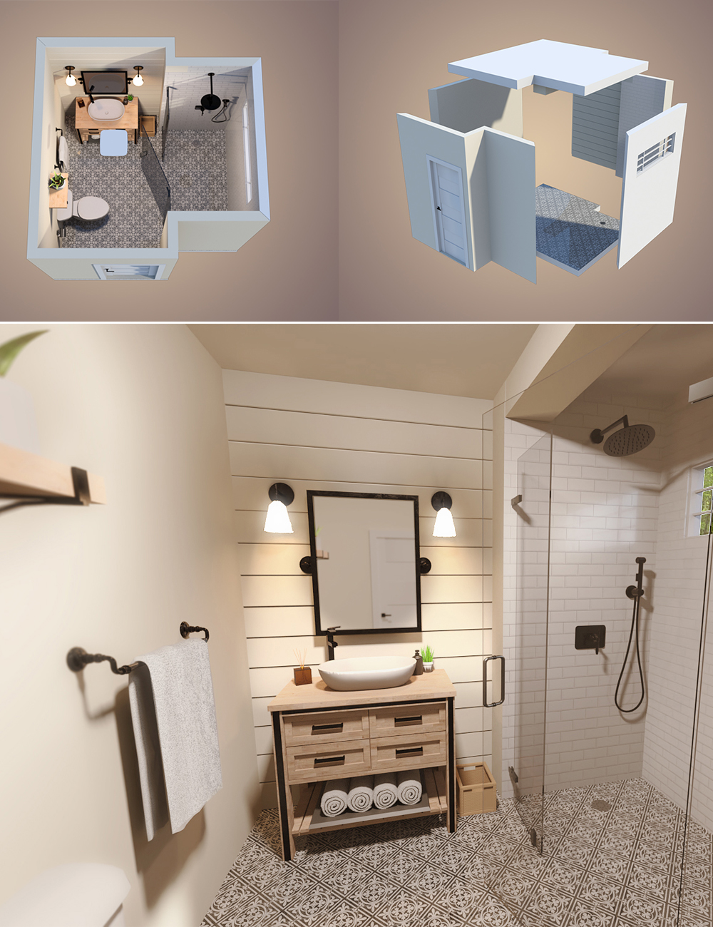 Transitional Bathroom by: PerspectX, 3D Models by Daz 3D