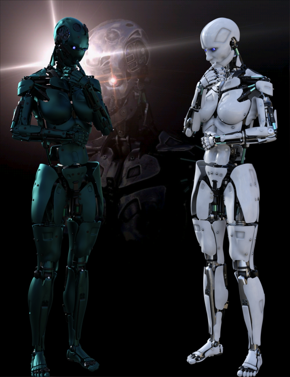 Cyborg Generation 8 Female by: DzFire, 3D Models by Daz 3D