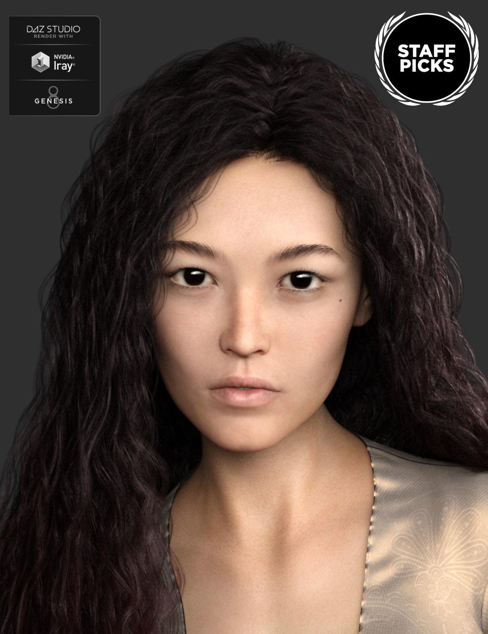 Fan Ling HD for Genesis 8 Female by: Mousso, 3D Models by Daz 3D