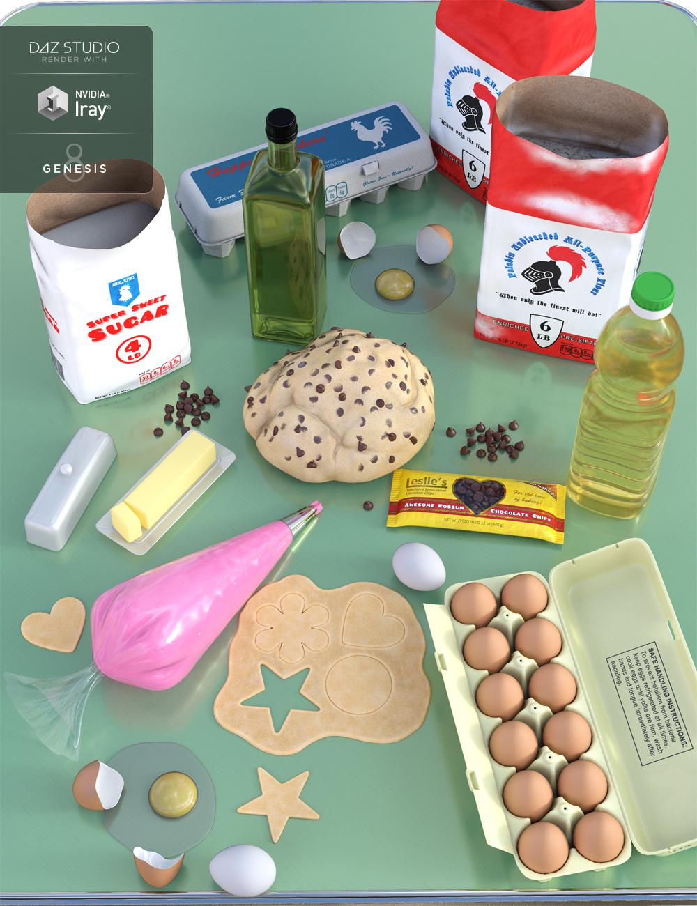 Baking Ingredients by: Rascal3D, 3D Models by Daz 3D