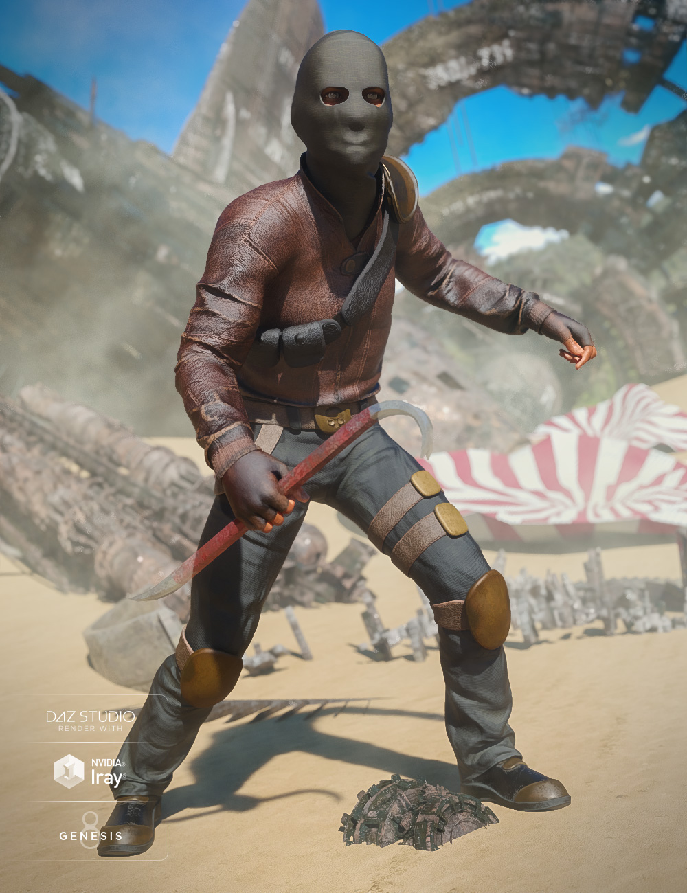 Raider Outfit for Genesis 8 Male(s) by: Moonscape GraphicsSadeYura, 3D Models by Daz 3D
