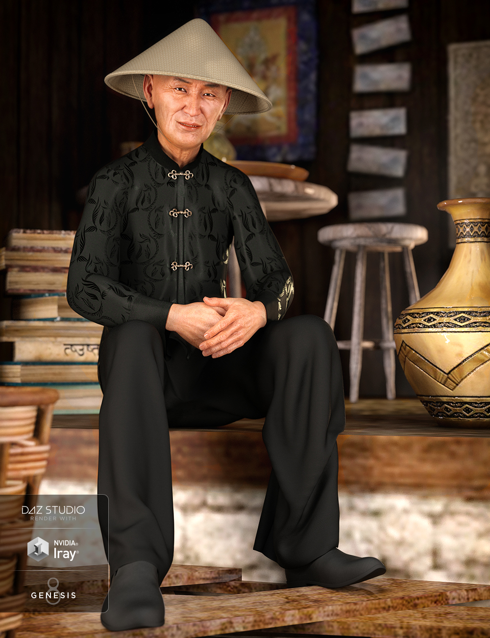 dForce Traditional Outfit for Genesis 8 Male(s) by: NikisatezOziChick, 3D Models by Daz 3D