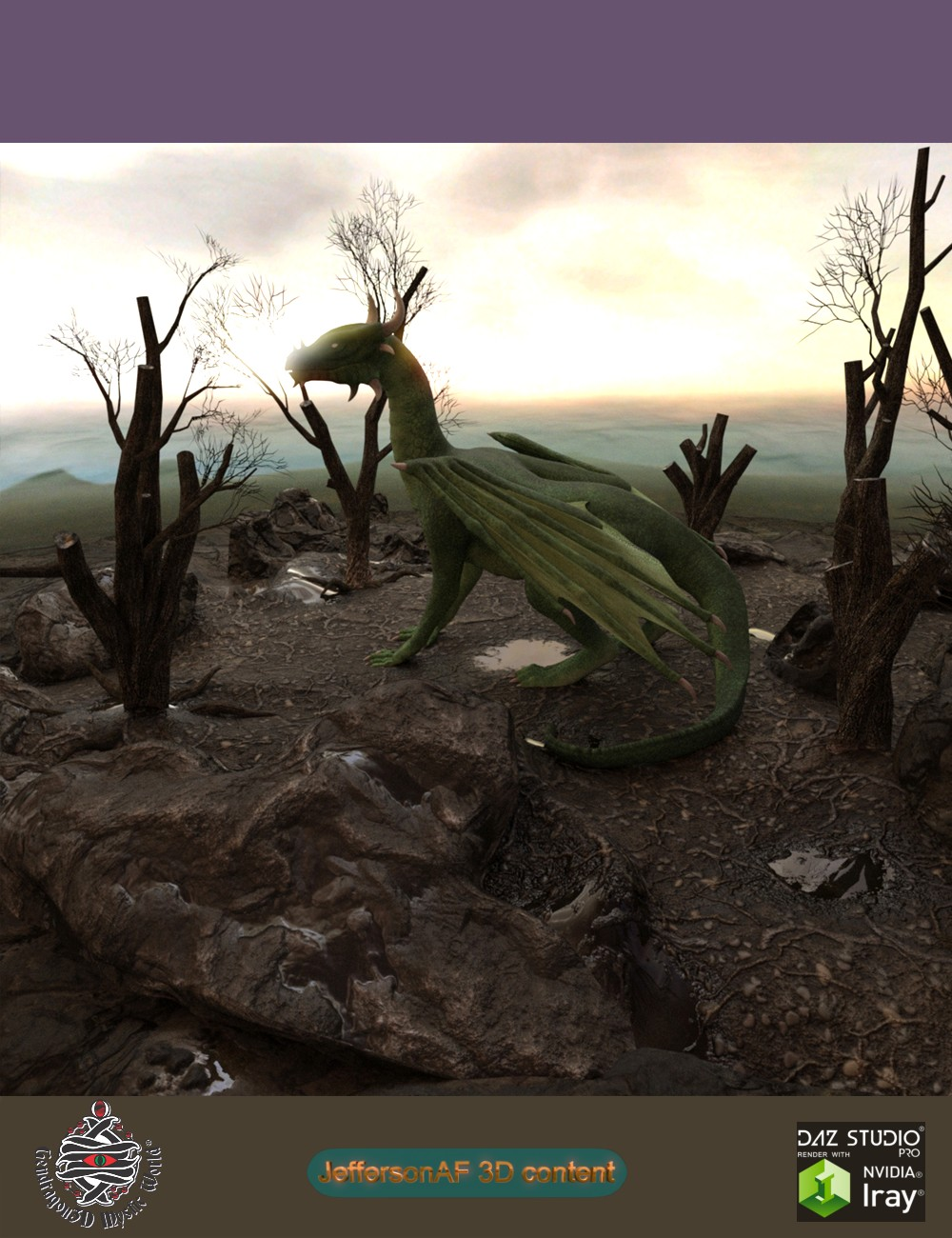 Desolate and Dead Land by: JeffersonAFGendragon3D, 3D Models by Daz 3D