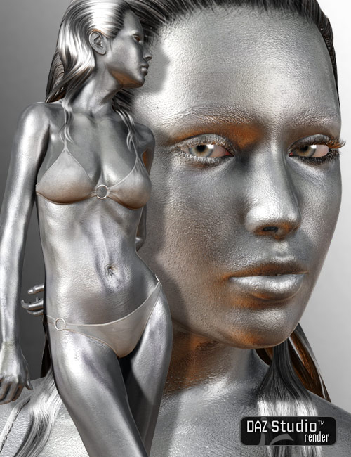 Silver Textures for V4 by: Sarsa, 3D Models by Daz 3D